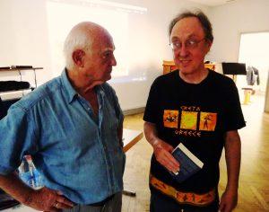 Lothar Seidler Verleger und Leiter der Literatur-Offensive e. V. mit Autor W. Vater